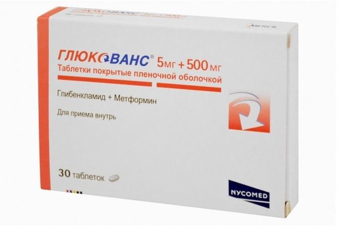 Глюкованс таблетки