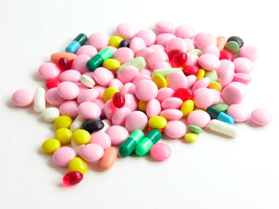 Таблетки розовые